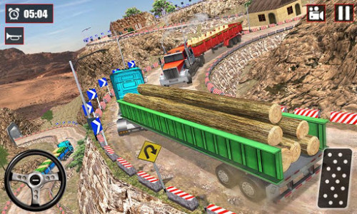 اسکرین شات بازی Offroad Snow Trailer Truck Driving Game 2020 5