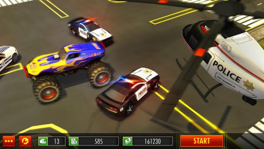 اسکرین شات بازی Police Chase Monster Car: City Cop Driver Escape 6
