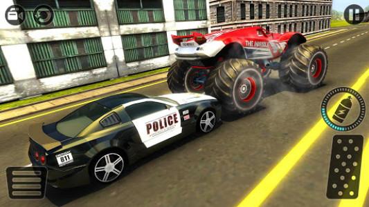 اسکرین شات بازی Police Chase Monster Car: City Cop Driver Escape 7