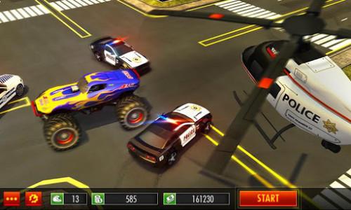 اسکرین شات بازی Police Chase Monster Car: City Cop Driver Escape 1
