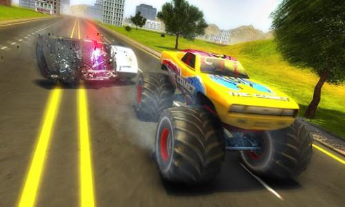 اسکرین شات بازی Police Chase Monster Car: City Cop Driver Escape 4