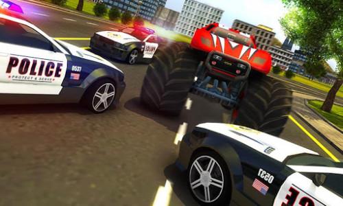 اسکرین شات بازی Police Chase Monster Car: City Cop Driver Escape 3