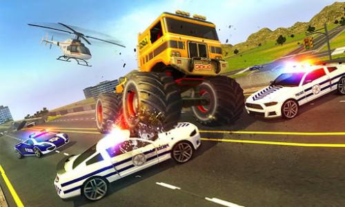اسکرین شات بازی Police Chase Monster Car: City Cop Driver Escape 5