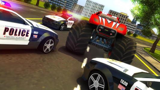 اسکرین شات بازی Police Chase Monster Car: City Cop Driver Escape 8