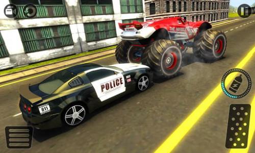 اسکرین شات بازی Police Chase Monster Car: City Cop Driver Escape 2