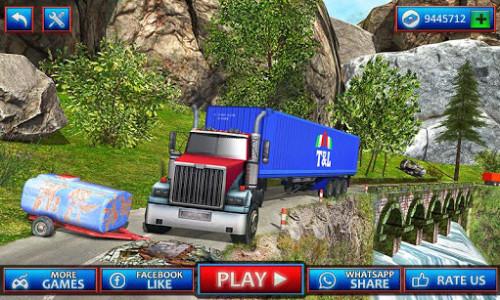 اسکرین شات بازی Uphill Cargo Transport Truck Driver 2019 1
