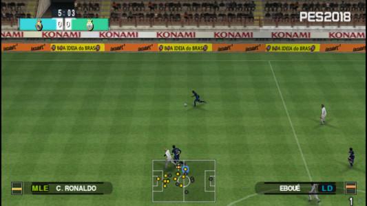 اسکرین شات بازی فوتبال PES 2018 دوربین PS4 7