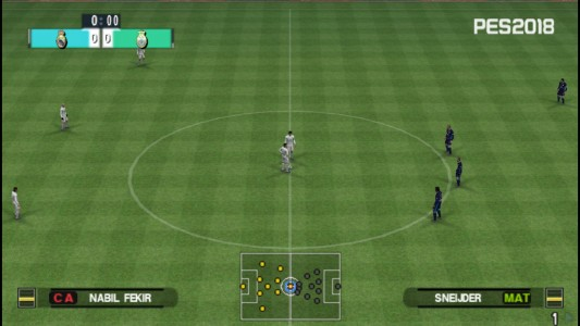 اسکرین شات بازی فوتبال PES 2018 دوربین PS4 6