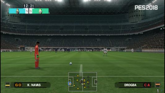 اسکرین شات بازی فوتبال PES 2018 دوربین PS4 5
