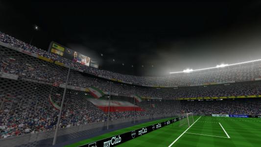 اسکرین شات بازی فوتبال PES 2019 زاویه دوربین PS4 4