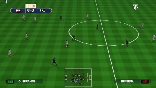 اسکرین شات بازی فوتبال PES 2019 زاویه دوربین PS4 7