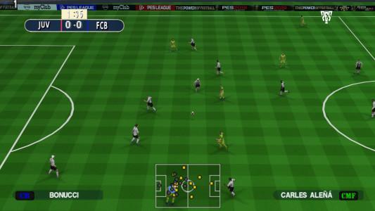 اسکرین شات بازی فوتبال PES 2019 زاویه دوربین PS4 2