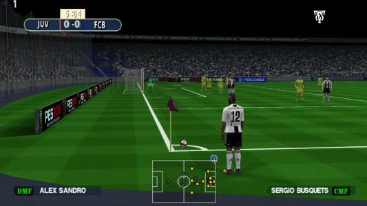 اسکرین شات بازی فوتبال PES 2019 زاویه دوربین PS4 8