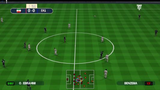 اسکرین شات بازی فوتبال PES 2019 زاویه PS4 2