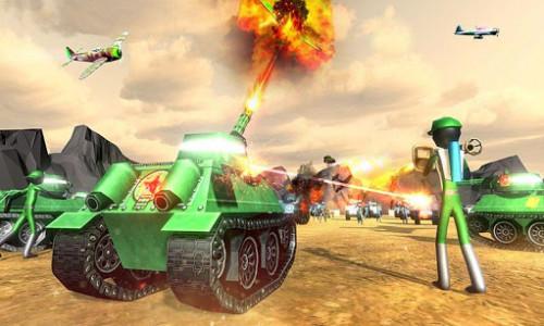 اسکرین شات بازی Battle Simulator World War 2 - Stickman Warriors 3