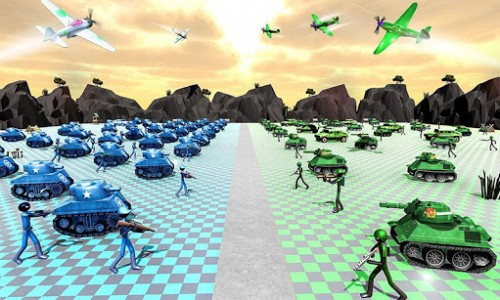 اسکرین شات بازی Battle Simulator World War 2 - Stickman Warriors 1