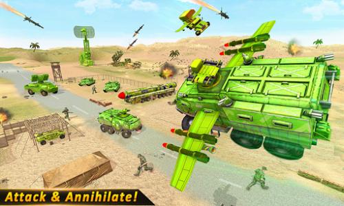 اسکرین شات بازی US Army missile truck: Flying truck Simulator 2021 1