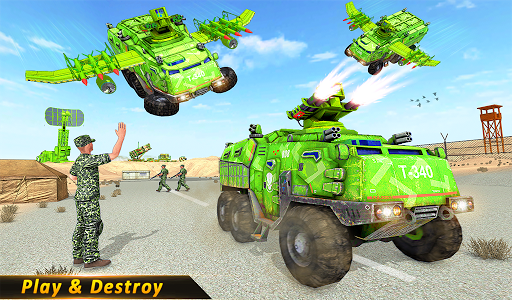 اسکرین شات بازی US Army missile truck: Flying truck Simulator 2021 8
