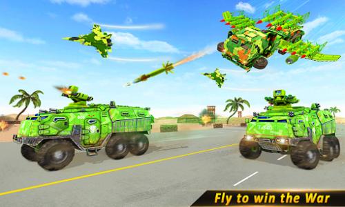 اسکرین شات بازی US Army missile truck: Flying truck Simulator 2021 5