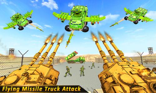 اسکرین شات بازی US Army missile truck: Flying truck Simulator 2021 2