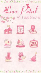 اسکرین شات برنامه Love Petal GO Launcher Theme 1
