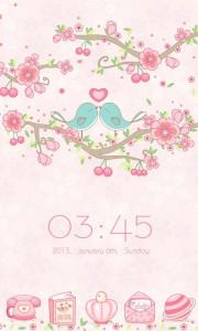 اسکرین شات برنامه Love Petal GO Launcher Theme 2