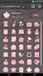 اسکرین شات برنامه Love Petal GO Launcher Theme 6