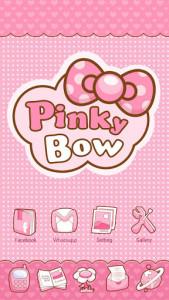اسکرین شات برنامه Pinky Bow GO Launcher Theme 3