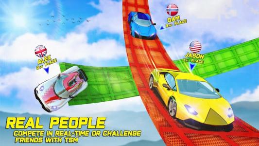 اسکرین شات برنامه Superhero Car Stunt: Car Games 1