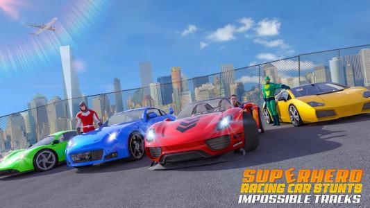 اسکرین شات برنامه Superhero Car Stunt: Car Games 5