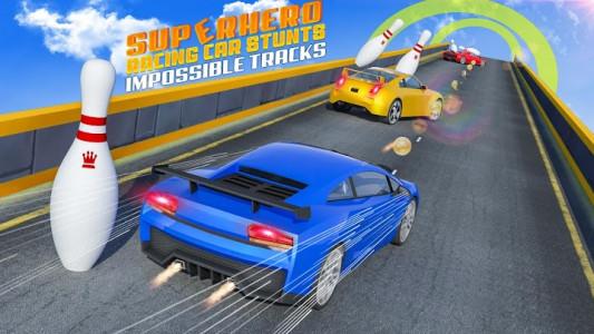 اسکرین شات برنامه Superhero Car Stunt: Car Games 6