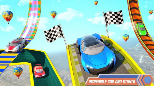 اسکرین شات برنامه Superhero Car Stunt: Car Games 4
