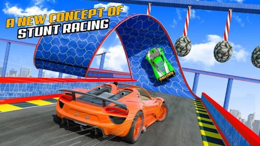 اسکرین شات برنامه Superhero Car Stunt: Car Games 3