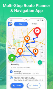 اسکرین شات برنامه GPS Route Planner 1