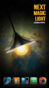 اسکرین شات برنامه Next magic light livewallpaper 1
