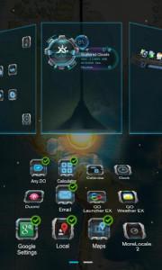 اسکرین شات برنامه Next magic light livewallpaper 2