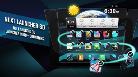 اسکرین شات برنامه Next Launcher 3D Shell Lite 8