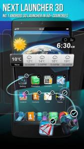 اسکرین شات برنامه Next Launcher 3D Shell Lite 1