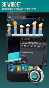 اسکرین شات برنامه Next Launcher 3D Shell Lite 5