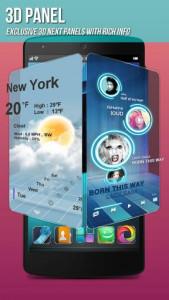 اسکرین شات برنامه Next Launcher 3D Shell Lite 6