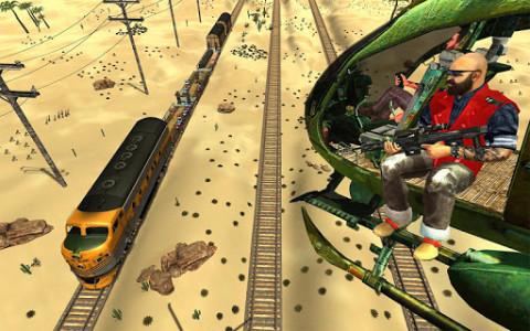 اسکرین شات برنامه Mission Counter Attack Train Robbery Shooting Game 1