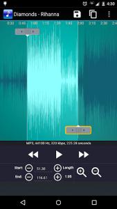 اسکرین شات برنامه MP3 Cutter and Ringtone Maker 2