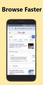 اسکرین شات برنامه Speed Browser Turbo 4.5G - Smart Search, Light & Fast 4