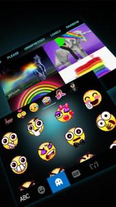 اسکرین شات برنامه Neon Skull Wing Keyboard Theme 4