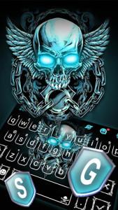 اسکرین شات برنامه Neon Skull Wing Keyboard Theme 2