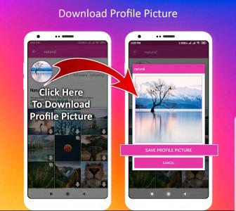اسکرین شات برنامه دانلود عکس پروفایل اینستا+پست 2