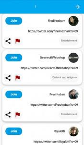 اسکرین شات برنامه لینکدونی توییتر 2