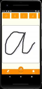 اسکرین شات برنامه تمرین دست خط پیوسته 2