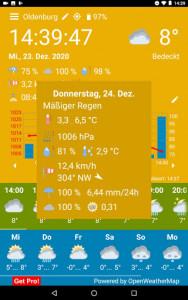 اسکرین شات برنامه WhatWeather - Weather Station ad-free 4