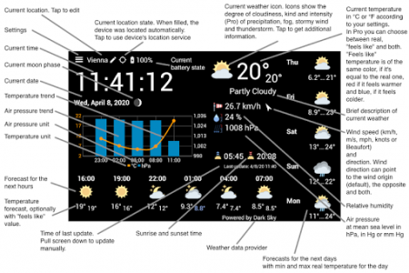اسکرین شات برنامه WhatWeather - Weather Station ad-free 6